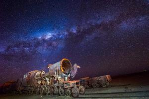 Temasek Photo Circuit Merit Award - Xiaomei Xu (China)  Train Under Galaxy