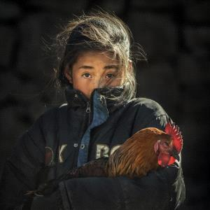 PhotoVivo Gold Medal - Feng Li (China)  Girl Holding A Chicken