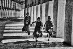 Temasek Photo Circuit Merit Award - Pat Choo (Singapore)  Happy Young Monks