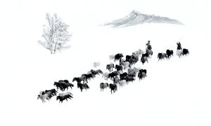 Temasek Photo Circuit Merit Award - Shihua Cao (China) <br /> Winter Herd In Bashang