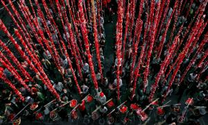 Temasek Photo Circuit Merit Award - Xiaojun Chen (China) <br /> Chinese Red Festival