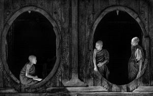 IUP Honor Mention - Ee-Sin Tan (Singapore) <br /> Monks At Oval Windows