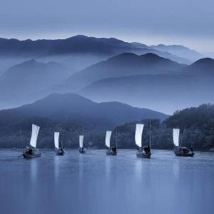 TPC Merit Award - Jingsheng Nie (China)  Boats In Water
